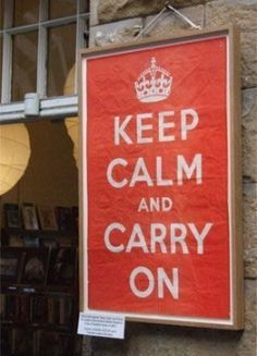 The Original 'Keep Calm and Carry On' Poster