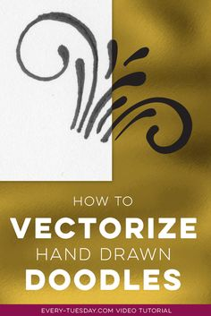 In this tutorial, I share 3 methods for how I vectorize hand drawn doodles, converting them into crisp vectors to use repeatedly on any application. Flat Design, Web Design, Design Logo, Design Poster, Graphic Design Tutorials, Tool Design, Graphic Design Inspiration, 2017 Design, Resume Design