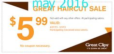 Great Clips coupons for february 2017 Great Clips Coupons, Great Haircuts, Free Printable Coupons, Coupon Codes, Coding, Printables, December, Style Hair, Ideas
