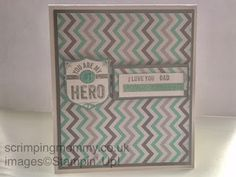 scrimpingmommy: Simple Fathers day card...