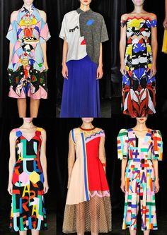 London Fashion Week Spring/Summer 2014 Print Highlights Part 3 catwalks tata naka Pop Art Fashion, Colorful Fashion, Fashion Prints, High Fashion, Fashion Show, Womens Fashion, Fashion Design, Ski Fashion, Milan Fashion