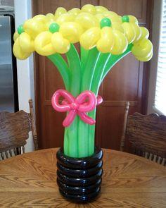 elegant balloons | Elegant, Long-Stemmed Balloon Bouquet