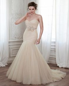 New Arrival Champagne Mermaid Wedding Dress 2017 Hot Sale Cheap Robe Mariage Sexy Sweetheart Tulle Lace-up Vestido De Noiva