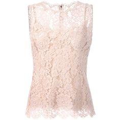 Dolce & Gabbana floral lace tank top