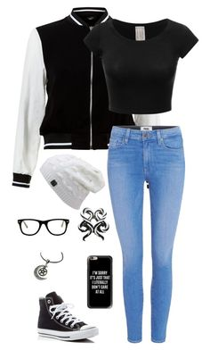 """""""Untitled #163"""" by tmneal on Polyvore featuring New Look, Paige Denim, Converse, Muse and Casetify"""