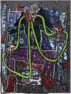 Robert Combas au Musée d'Art et d'Histoire du Judaïsme - R. Combas, Dans les tuyaux, 2013 © ADAGP, Paris 2013 - Photo JL Bellurget Bad Painting, Neo Expressionism, Fauvism, Pins, Expositions, Conceptual Art, 2013, Photos, Artist