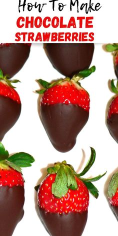 How to make fancy chocolate covered strawberries. These chocolate coated strawberries are really easy to make, all you need is 20 minutes and only 3 INGREDIENTS! You will love this yummy and easy dessert! Best Chocolate, Delicious Chocolate, Fancy Chocolate Desserts, Chocolate Recipes, Chocolate Coated Strawberries, Chocolate Covered, Best Dessert Recipes, Easy Desserts, Yummy Recipes