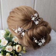 White flower Wedding hair pinshair vinepins Bridal hair