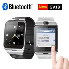 Smart Watch GV18 with Camera Sync Notifier Support Sim Card Bluetooth Connectivity IOS Android Phone Smartwatch DigitalWatch