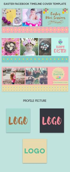 Free Happy Easter Facebook Timeline Cover is a set of 3 free Facebook cover templates. It is fully editable and all layers are Organized in PSD Template. via @creativetacos Facebook Cover Template, Facebook Timeline Covers, Happy Profile Picture, Creative Facebook Cover, Photography Mini Sessions, Fb Cover Photos, Photoshop Tutorial, Adobe Photoshop, Free Facebook