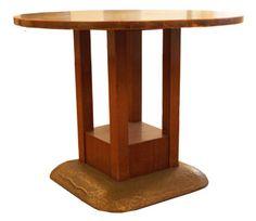 Round table.  Design: Josef Hoffmann, Sanatorium Purkersdorf  Manufacturer: Wiener Werkstaette, Vienna, 1903