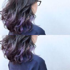 ボブをもっとおしゃれに♪紫のインナーカラーおすすめヘア13選の6枚目の画像 | ARINE [アリネ]