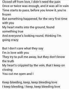 Bleeding love Leona Lewis.