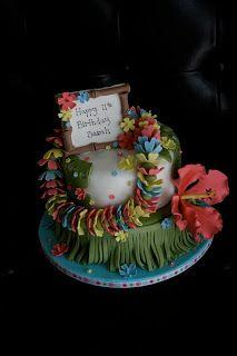 cakes by jyl: hula girl hawaiian cake