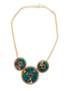 Annabelle Furaha Tri-Circle Medallion Necklace | Jimani Collections