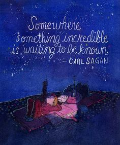 Somewhere something incredible is waiting to be known - carl sagan quote Quotable Quotes, Book Quotes, Words Quotes, Me Quotes, Sayings, Profound Quotes, Reading Quotes, Famous Quotes, Funny Quotes