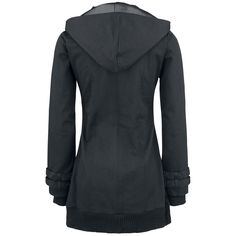 "Gothicana by EMP Between-seasons Jacket, Women ""Black Buckle Jacket"" black • EMP"