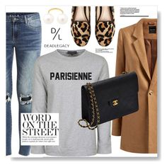"""""""Word On The ST"""" by myfashionwardrobestyle ❤ liked on Polyvore featuring VILA, Chanel, Dune and Dead Legacy"""