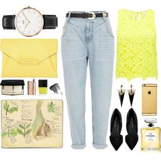 Designer Clothes, Shoes & Bags for Women Boards, Touch, Shoe Bag, Yellow, Polyvore, Stuff To Buy, Shopping, Collection, Design