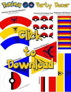Free Pokémon GO Party Printables