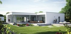 Prefab bungalow modern Affordable Prefab Homes, Modern Prefab Homes, Prefabricated Houses, Bungalows, Flat Pack Homes, Small Bungalow, Self Build Houses, Small House Design, Small House Plans
