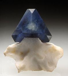 Benitoite - Benitoite Gem mine, San Benito County, California /