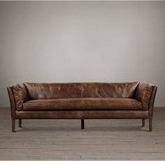 RH & # s 7 & # Sorensen Ledersofa: moderne Designer des dänischen … – Decoration Living Room Decor Brown Couch, New Living Room, Brown Sofa Design, Sofa Cognac, Classic Home Furniture, Modern Sofa Designs, Muebles Living, Elegant Sofa, Mid Century Sofa
