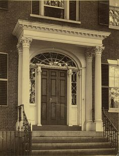 Doorway, 27 Chestnut Street - A. D. White Architectural Photographs, Cornell University Library