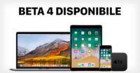 Apple rilascia la beta 4 di watchOS 4 di tvOS 11 e di MacOS High Sierra