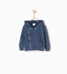 Zipped faded sweatshirt-SWEATERS AND CARDIGANS-BABY BOY   3 months-3 years-KIDS   ZARA United States