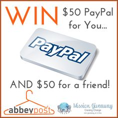 Win $50 Paypal CASH For You & A Friend!