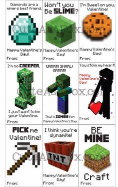 Cute As a Fox: Printable Minecraft Valentines