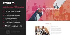 Owkey - Multi-Concept Portfolio PSD template by KL-Webmedia  Overview Owkey template offers 19 different pages and many shortcodes to build a creative website for any purpose. Use one of the