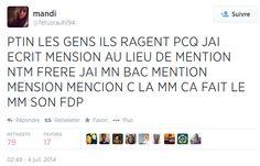 « CA FAIT LE MM SON FDP »