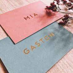 Geboortekaartje Gaston met kleur, foliedruk en letterpress I hippe geboortekaart - Studio Lolo I Grafisch ontwerp Gent<br>