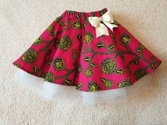 Got the sewing bug once again, so here is a skirt for a little princess. Ankara Styles For Kids, African Dresses For Kids, Latest African Fashion Dresses, New Baby Dress, Dress For Girl Child, Toddler Dress, Kids Outfits Girls, Dresses Kids Girl, Kids Girls