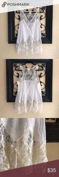 Free People Intimately Cute lace Top from Intimately Free People in Ivory White. In Excellent like New condition. Free People Intimately Tops