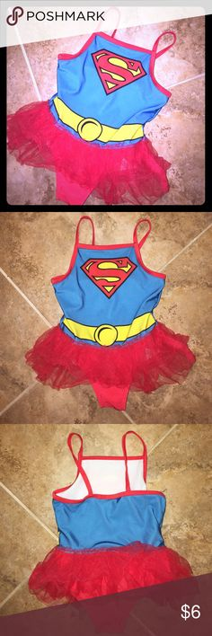 Supergirl bathing suit Great condition. Smoke free home. One tiny snag on the back. See pics. Swim One Piece