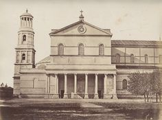 Italy Roma St Paolo hors les murs Church Two Old Photos 1890