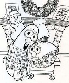 larry and bob christmas coloring page
