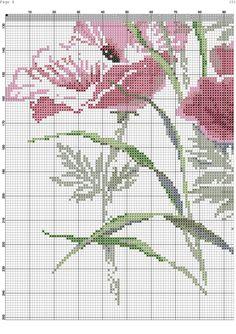 Vallmo 4 Cross Stitch Bird, Cross Stitch Flowers, Cross Stitch Embroidery, Embroidery Patterns, Cross Stitch Patterns, Pink Peonies, Le Point, Needlepoint, Needlework
