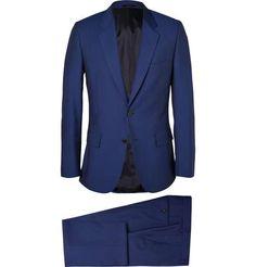 Blue Slim-Fit Wool and Mohair-Blend Suit $1485 #thenavysuit