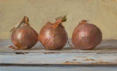 daily painting titled Three onions - click for enlargement
