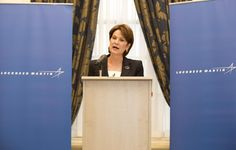 20: Lockheed Martin Chairman and CEO Marillyn A. Hewson. REUTERS/Neil Hall