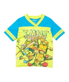 b232914ed25 TMNT Blue  amp  Lime Jersey Tee - Toddler  zulily  zulilyfinds Awesome Boy