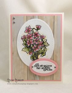 ... Simply Stamping ...: Flowers & Scripture