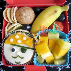 Pirates of the Caribbean Bento Box | Cute Snacks for Kids: Healthy Character Recipes | Food | Disney Family.com
