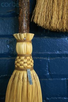 Berea College Crafts broom. The wall is my favorite color. #brooms