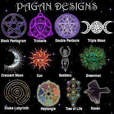 designs and symbols (via Lili  -  http://www.pinterest.com/pin/292663675757327673/ ) ||   PAGAN SYMBOLS:  http://www.nazarite.net/pagan-symbols.html