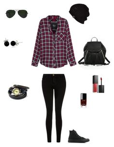 """Untitled #3"" by mrshipp ❤ liked on Polyvore featuring Rails, Current/Elliott, Converse, Rebecca Minkoff, Bling Jewelry, Ray-Ban, Smashbox, Chanel and UGG Australia"